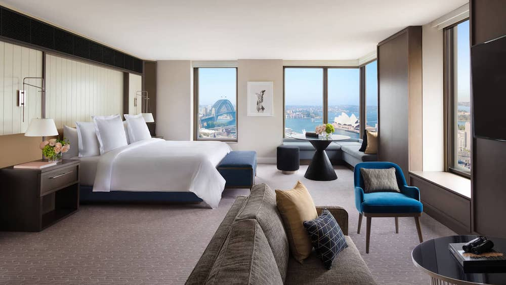 the bedrooms at Four Seasons Sydney