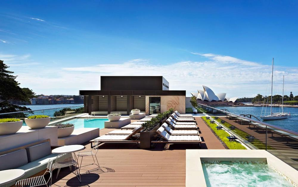 the rooftop pool at Park Hyatt Sydney