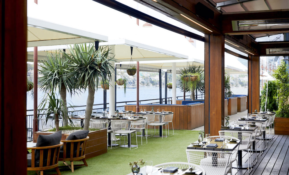 The outdoor restaurant and terrace at Pier One Sydney Harbour