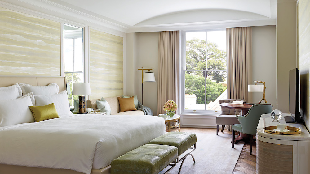 The bedrooms at The Langham Sydney