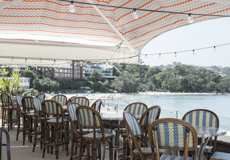 The Louis Champagne terrace at Bathers' Pavillion