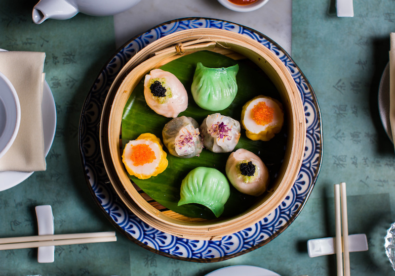 The dumplings at Mr Wong restaurant in Sydney