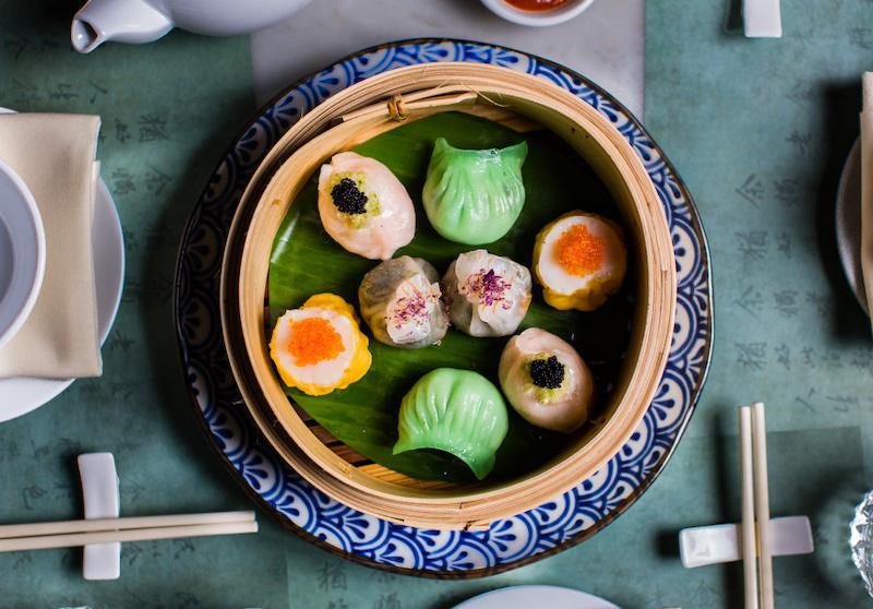 The dumplings at Mr Wong restaurant in Sydney
