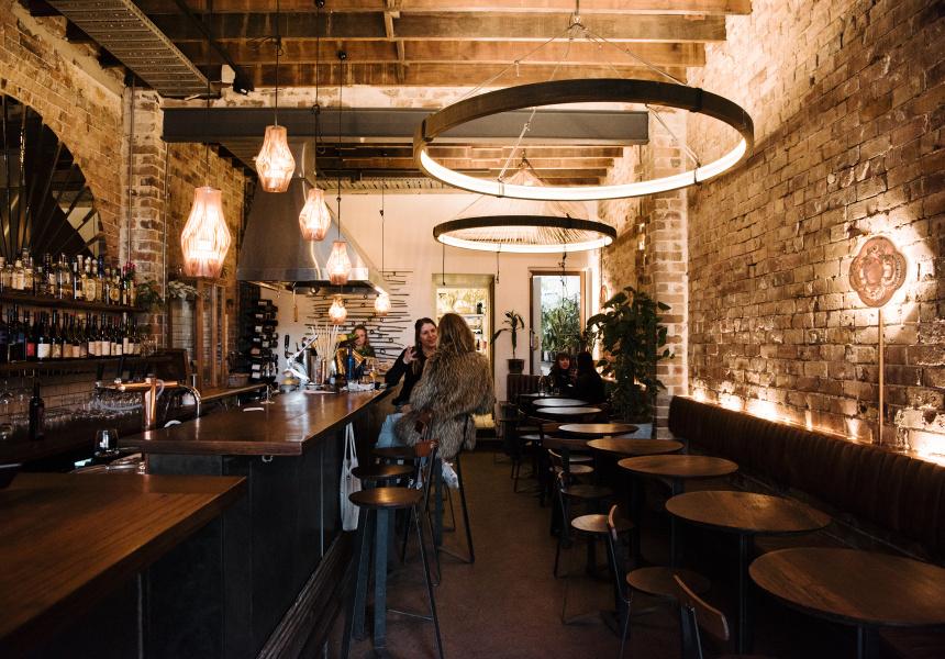 Ode wine bar in Bondi
