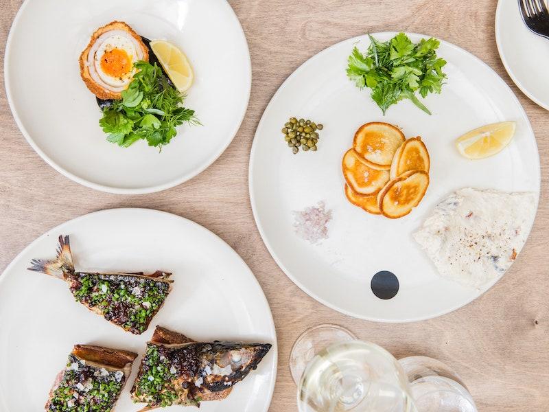 The food at fish restaurant Saint Peter in Paddington