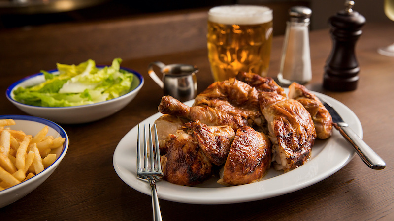 The rotisserie chicken at The Paddington in Sydney