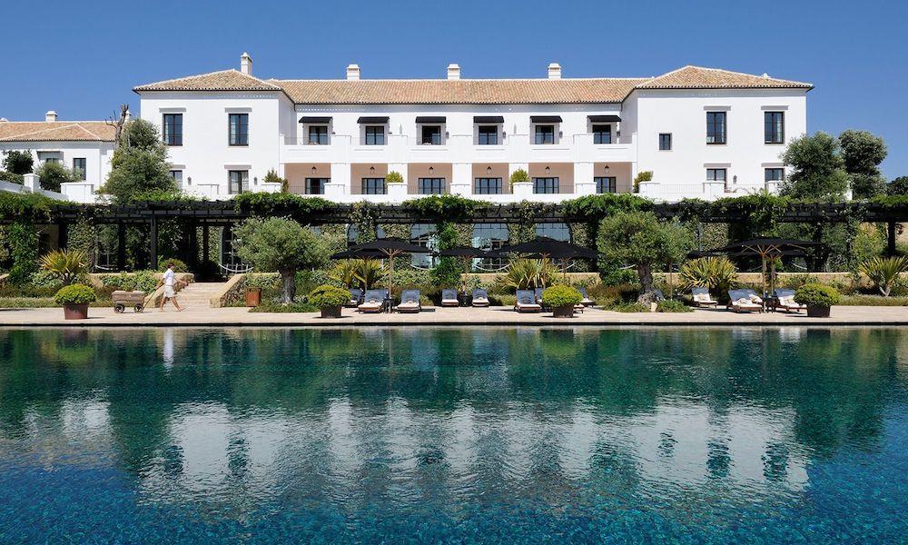 The main swimming pool at Finca Cortesin