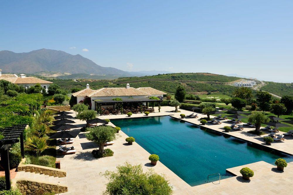 The glorious swimming pool at Finca Cortesin