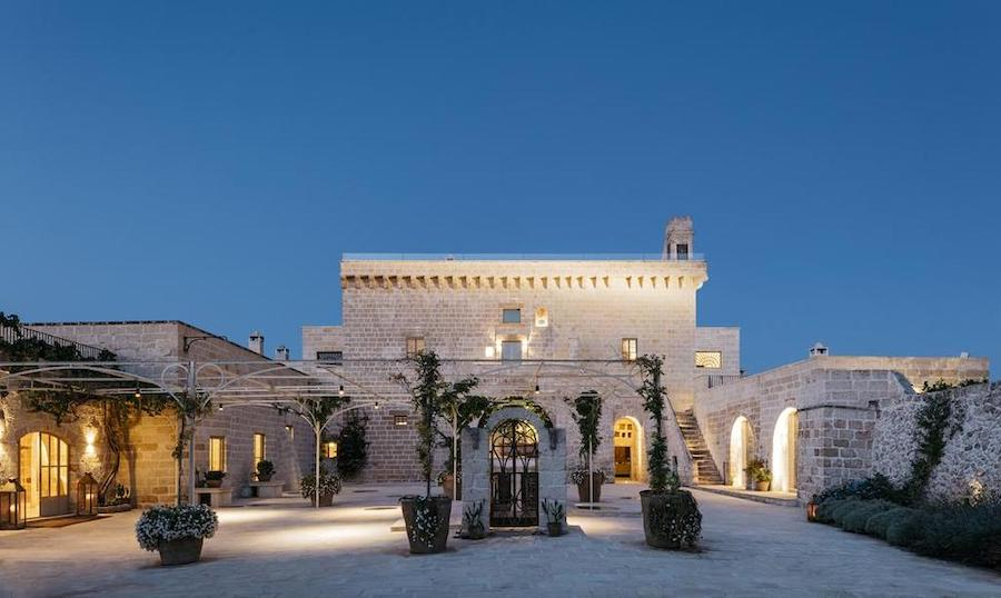 The courtyard at Masseria Trapana