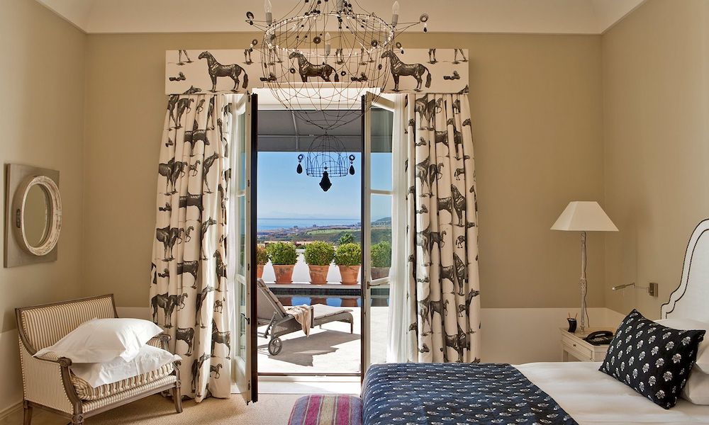 One of the bedrooms at Hotel Finca Cortesin in Cesares