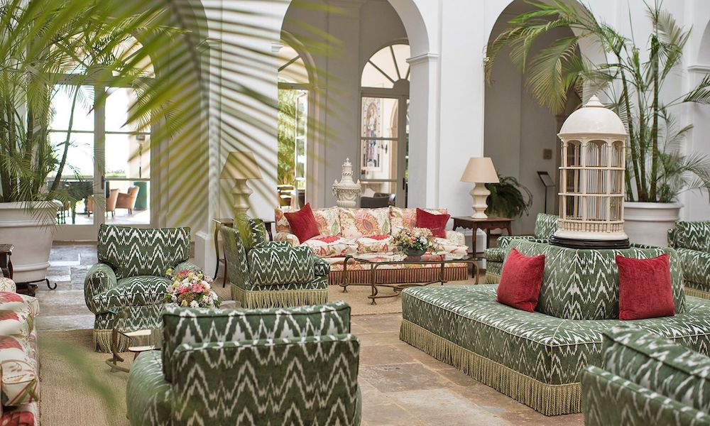 The gorgeous lobby at Hotel Finca Cortesin in Spain
