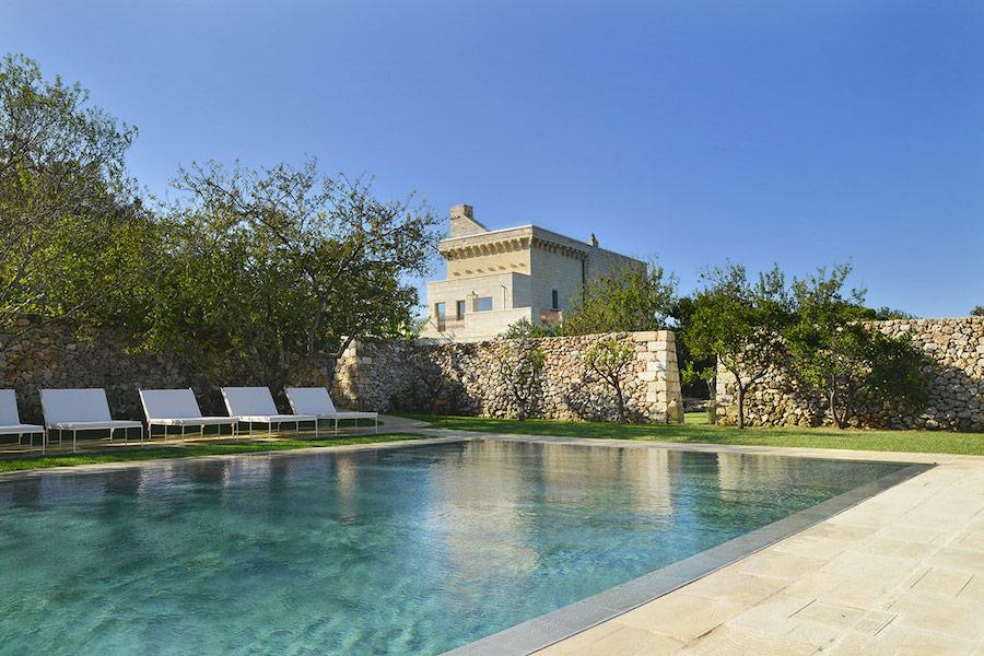 the swimming pool at Masseria Trapana