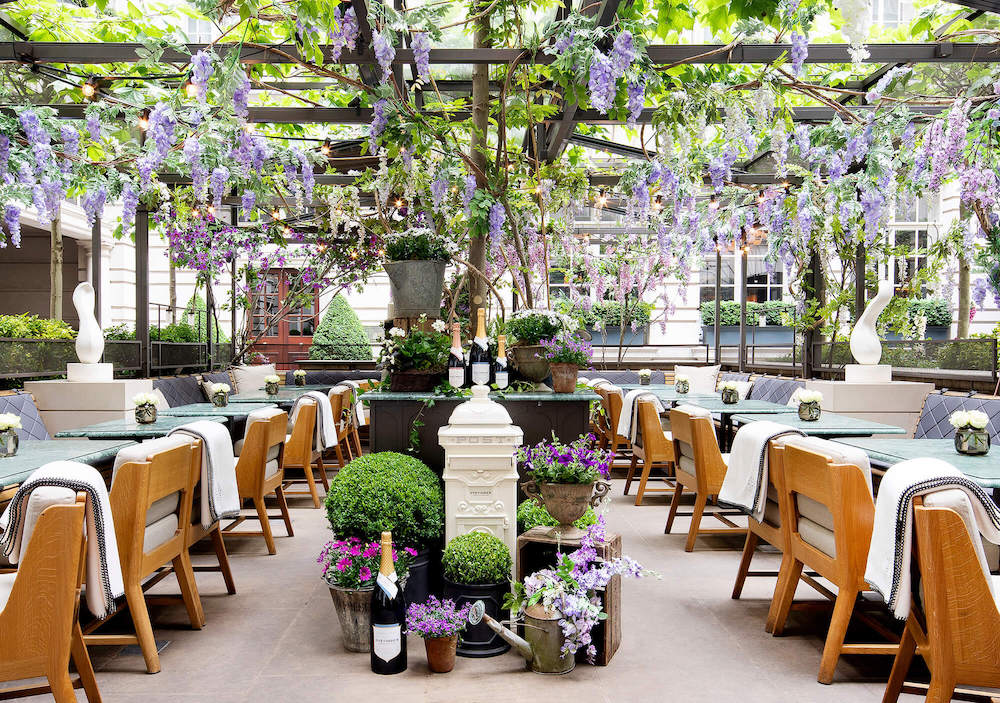 The terrace at Rosewood London