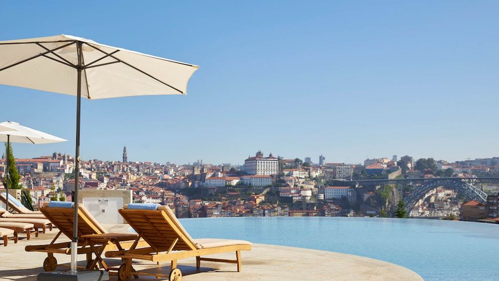 The pool at The Yeatman Hotel in Porto