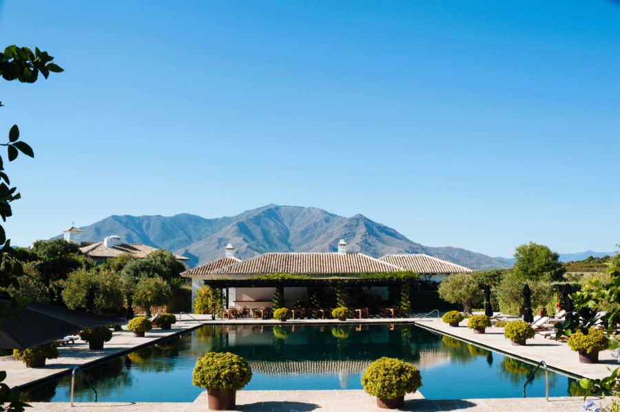 one of the pools at Finca cortesin, a Virtuoso hotel